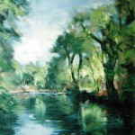 River and Trees oil 24x20ins