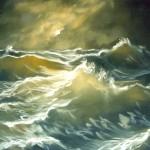 Seascape oil 19x15ins